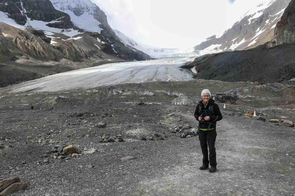 Devant le glacier Athabasca (Banff NP)