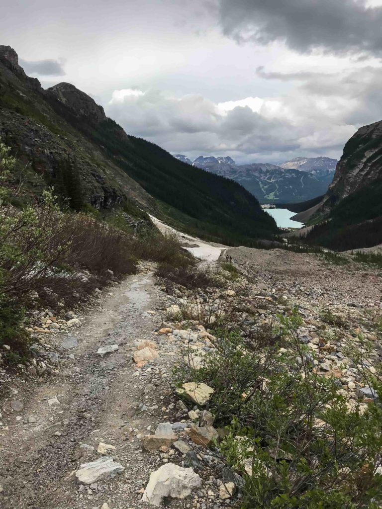 """Sentier de la """"Plain of Six Glaciers"""" (Banff NP)"""