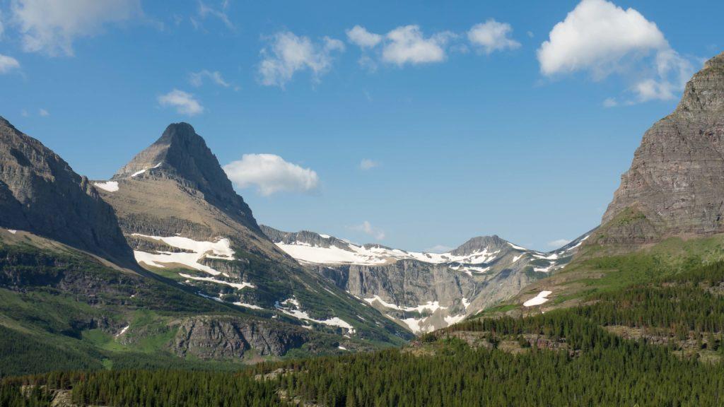 Mount Grinnell depuis le sentier menant au Iceberg Lake (Glacier NP)