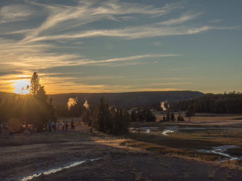 Le soir près du Old Faithful (Yellowstone NP)