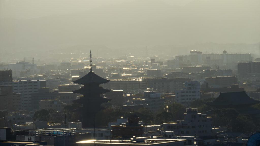 Vue depuis le toit de la gare de Kyoto