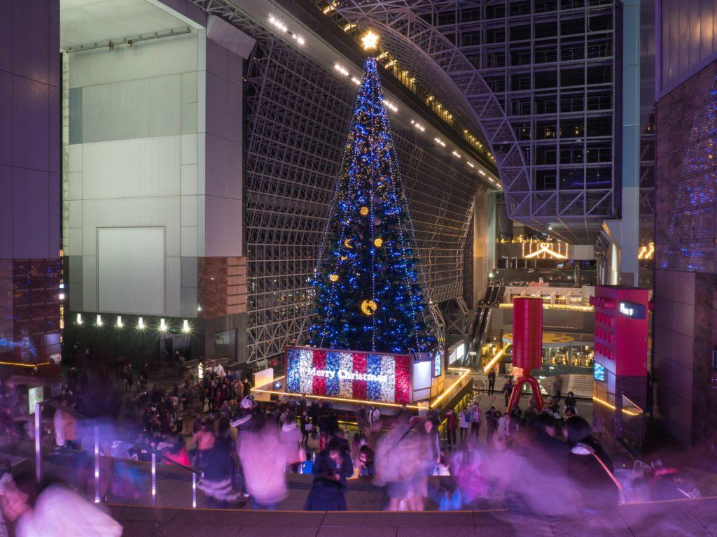 Noël à la gare de Kyoto