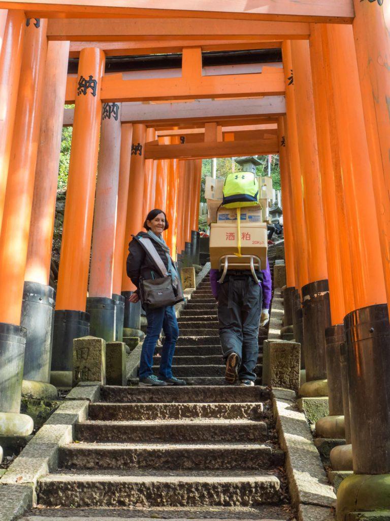 Sous les torii d'Inari (près de Kyoto)