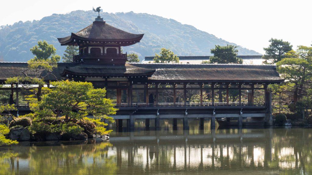 Dans les jardins du temple Heian Jingu (Kyoto)