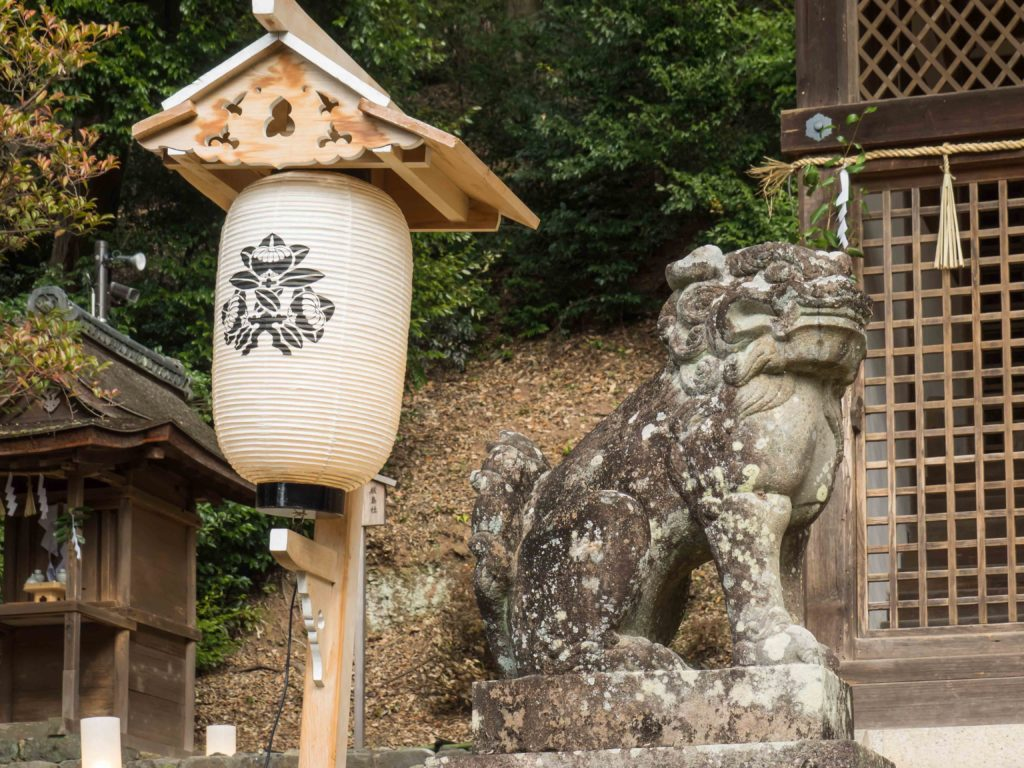 Dans un temple shinto à Uji