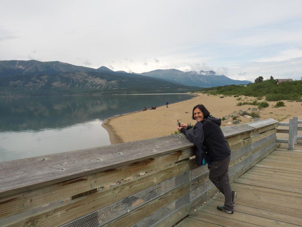Au bord du lac Bennett (Yukon)