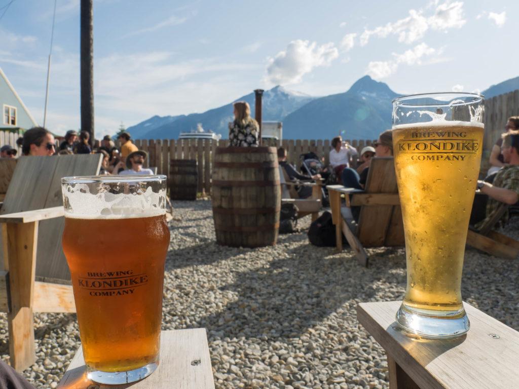 La bière brassée (IPA et Lager) à Skagway