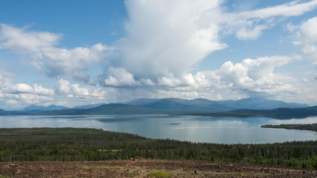 Sur le sentier du Glacier Rocheux, au dessus du lac Dezadeash (Kluane NP, Yukon)