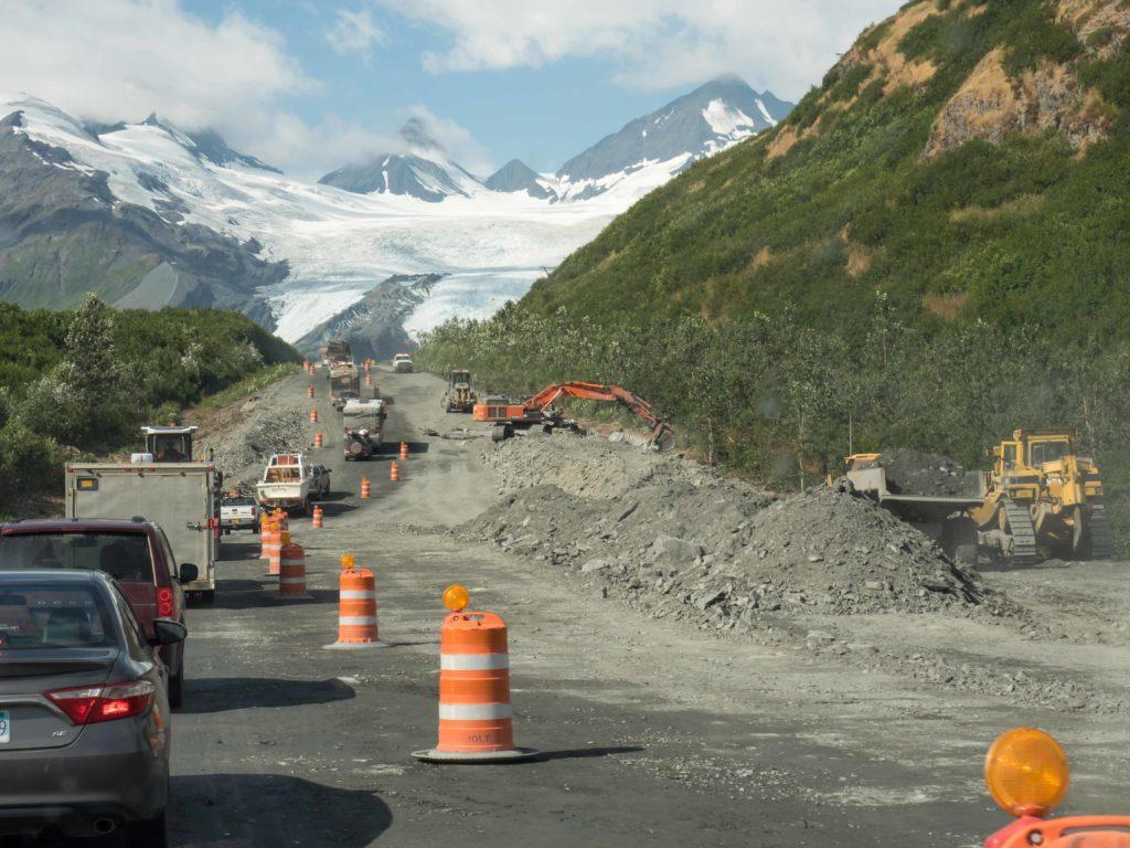Travaux sur la Richardson Highway (Alaska)