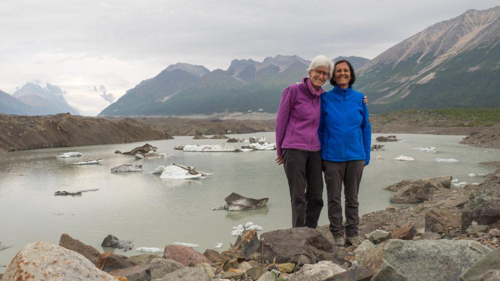 Au bord du lac glaciaire du Kennecott (Wrangell-St Elias NP)
